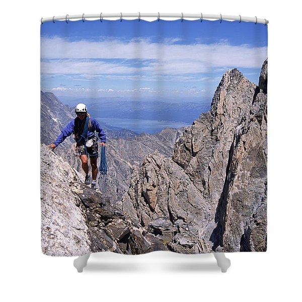 Hiking The Grand Tetons, Wy Usa Shower Curtain