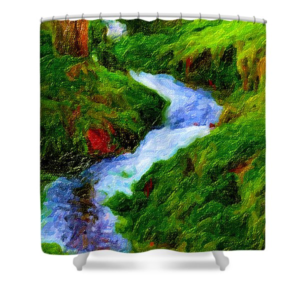 Hill And Rill Shower Curtain