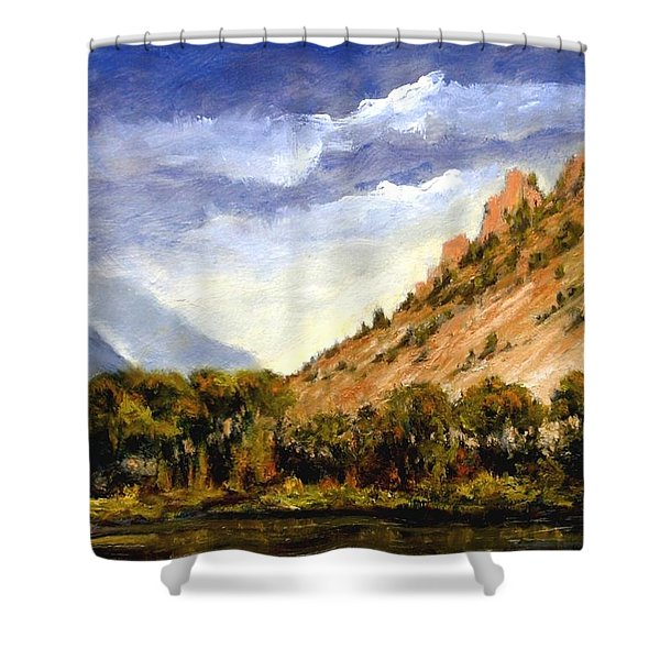Hills Of Jackson Wyoming Shower Curtain