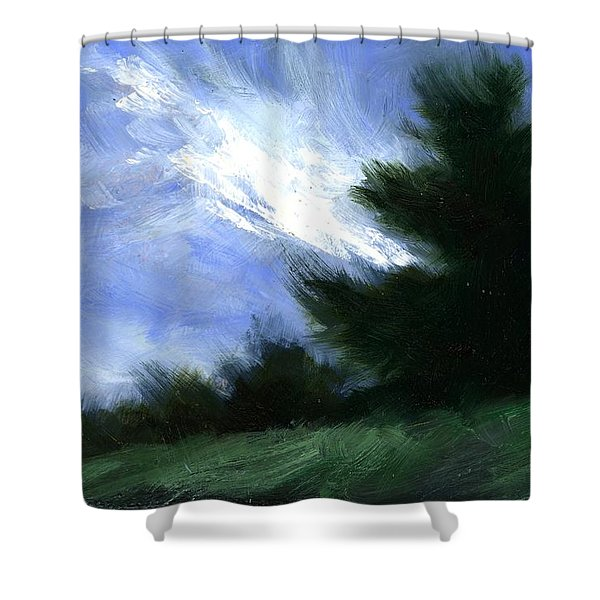 Hillside Breeze Shower Curtain