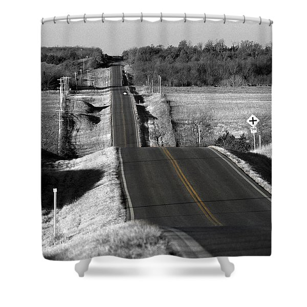 Hilly Ride Shower Curtain