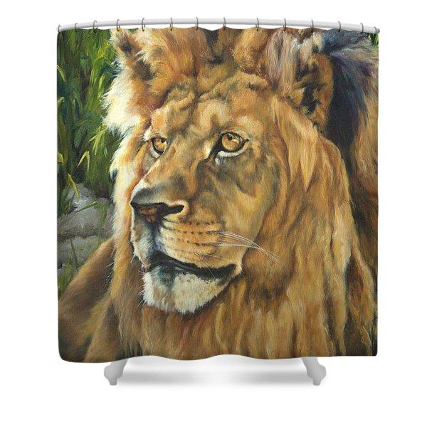 Him - Lion Shower Curtain