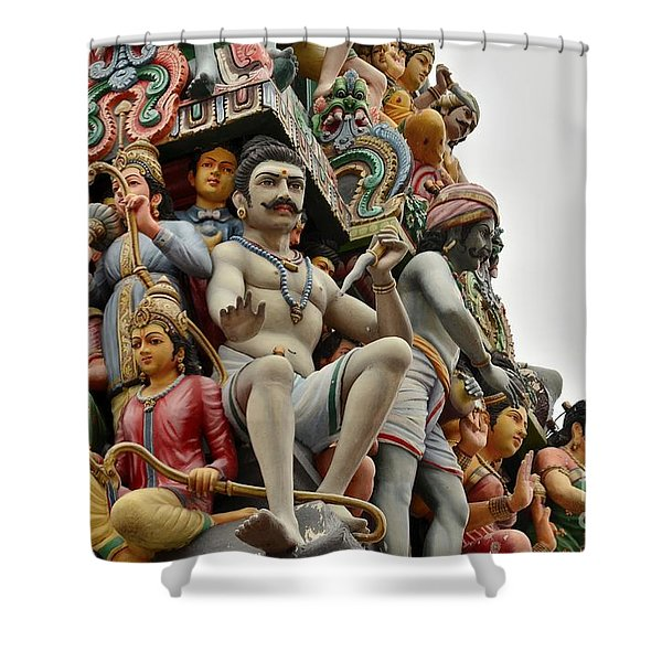Hindu Gods And Goddesses At Temple Shower Curtain