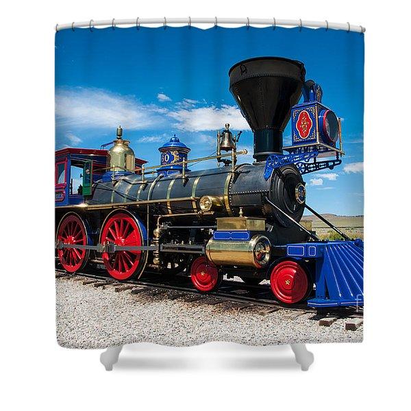 Historic Jupiter Steam Locomotive - Promontory Point Shower Curtain