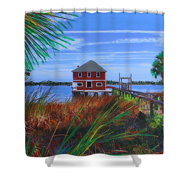 Historic Ormond Boathouse Shower Curtain