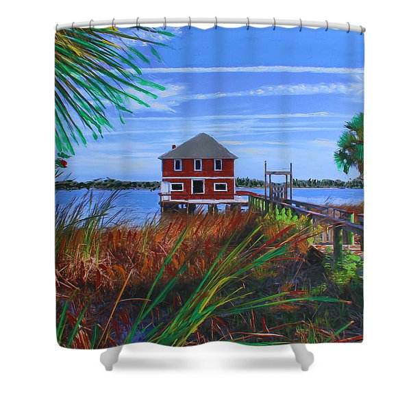 Historic Ormond Boathouse Shower Curtain