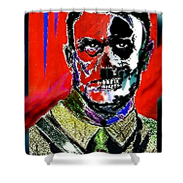Hitler  - The  Face  Of  Evil Shower Curtain