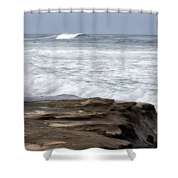 Hittin The Breakers Shower Curtain