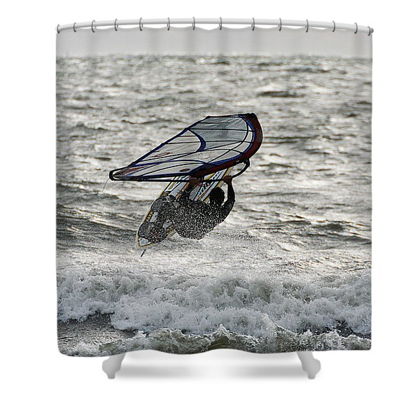 Hitting A Wave 2 Shower Curtain