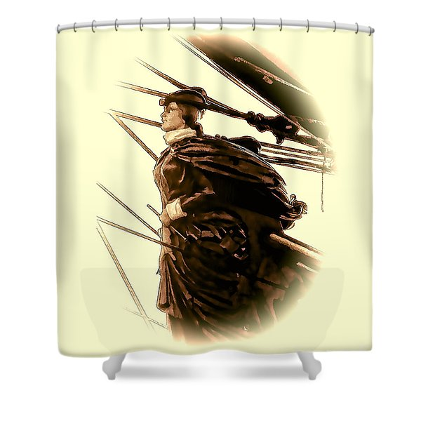 Hms Bounty - Lost At Sea  Shower Curtain