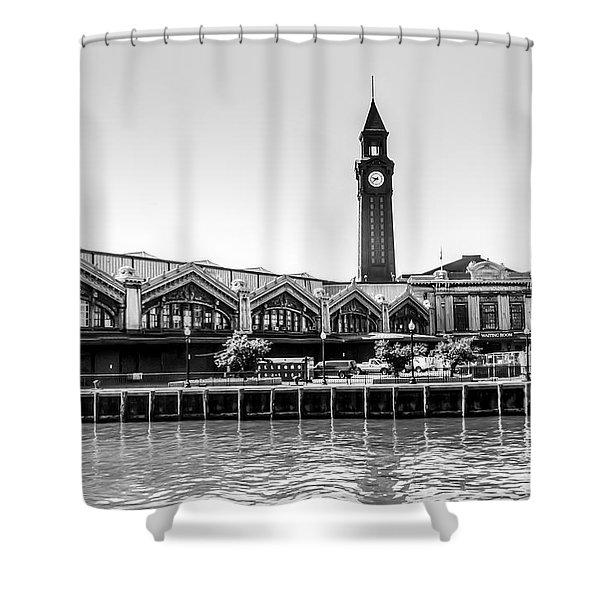 Hoboken Terminal Tower Shower Curtain
