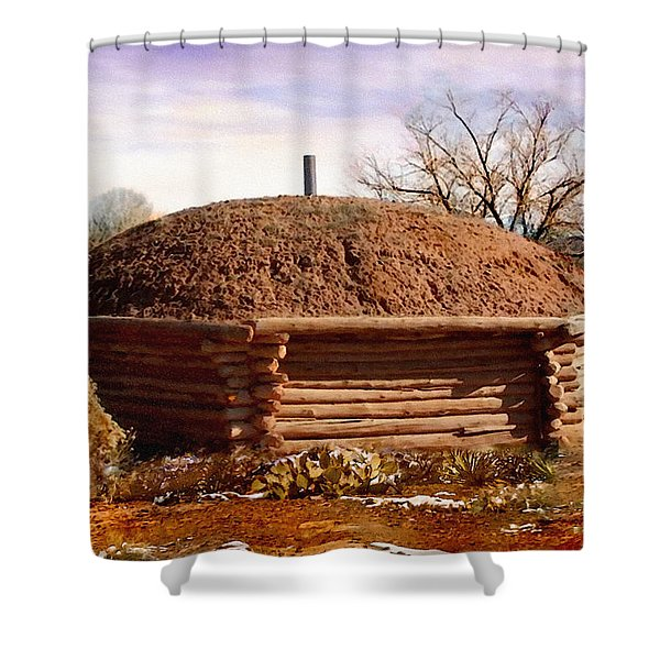 Hogan Monument Valley Winter Painting Shower Curtain