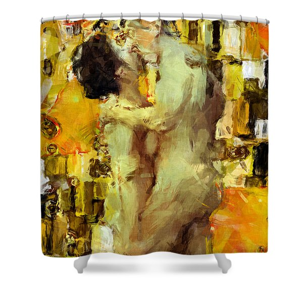 Hold Me Tight Shower Curtain by Kurt Van Wagner