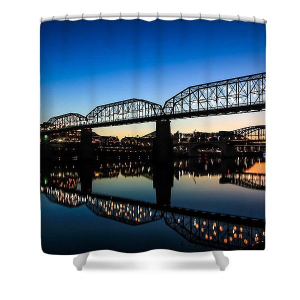 Holiday Lights Chattanooga Shower Curtain