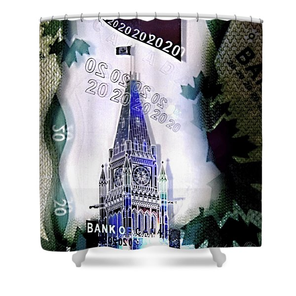 Holographic Parlement Shower Curtain