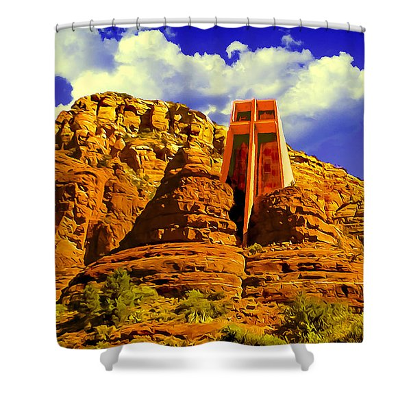 Holy Cross Chapel Coconino National Forest Shower Curtain