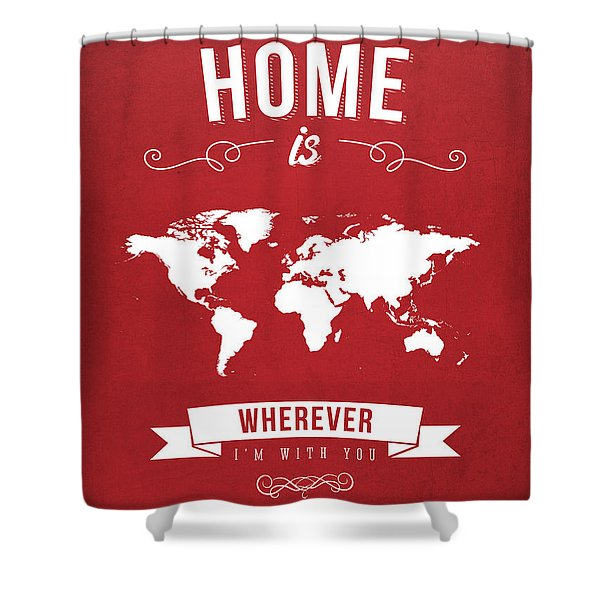 Home - Red Shower Curtain