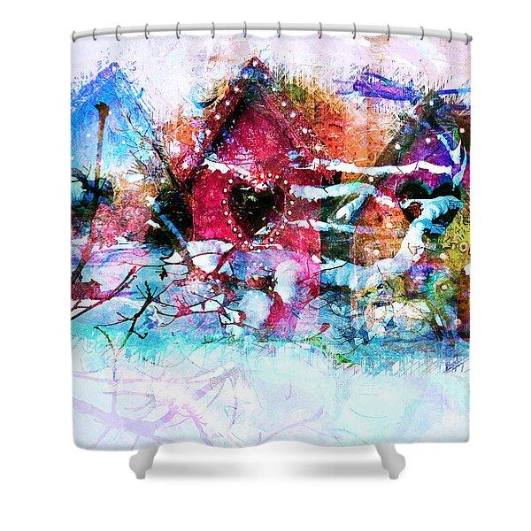 Home Through All Seasons Shower Curtain