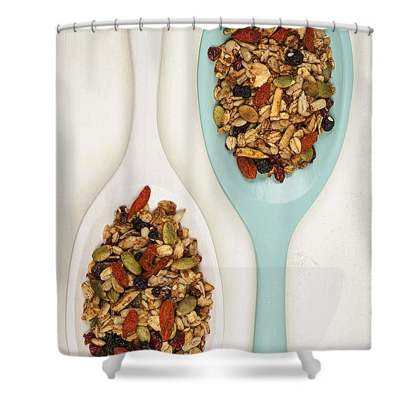 Homemade Granola In Spoons Shower Curtain