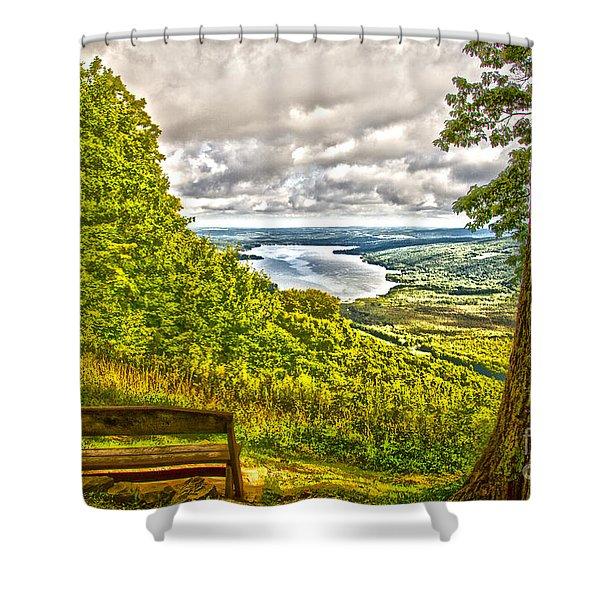 Honeoye Lake Overlook Shower Curtain