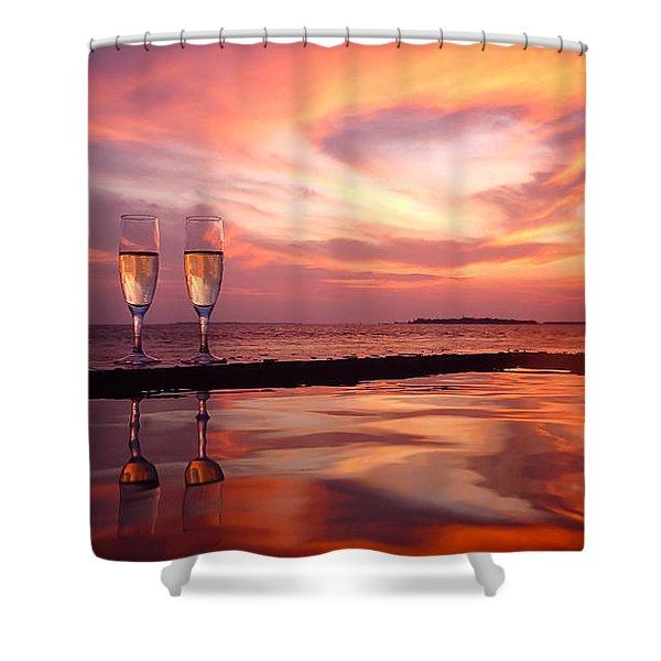 Honeymoon - A Heart In The Sky Shower Curtain