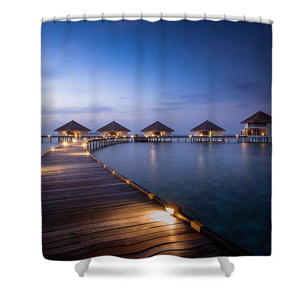 Honeymooners Paradise Shower Curtain