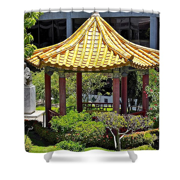 Honolulu Airport Chinese Cultural Garden Shower Curtain