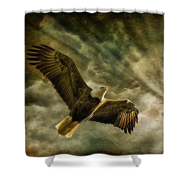Honor Bound In Blue Shower Curtain