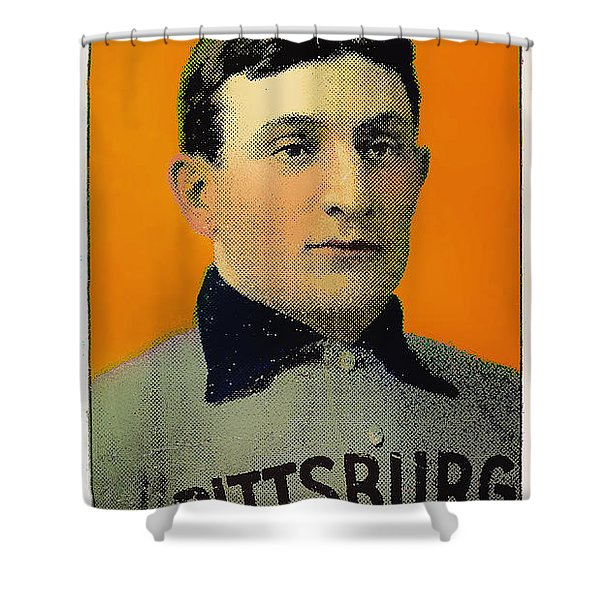Honus Wagner Baseball Card 0838 Shower Curtain