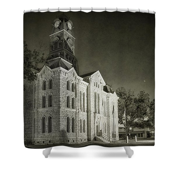 Hood County Courthouse Shower Curtain