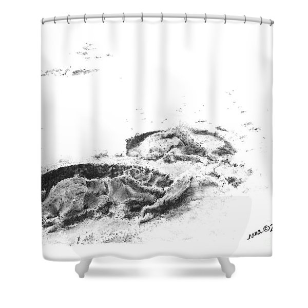 Hoof Prints Shower Curtain