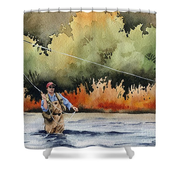 Hooked Up Shower Curtain