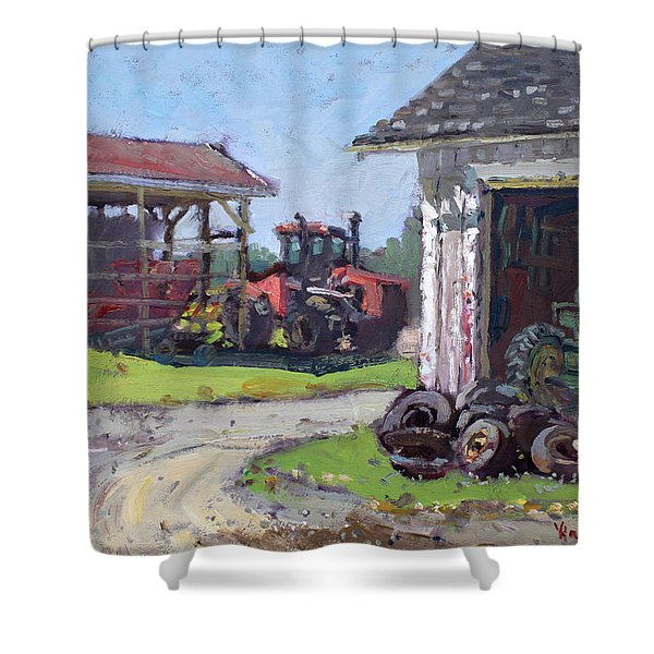 Hoover Farm In Sanborn Shower Curtain