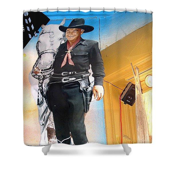 Hopalong Cassidy Cardboard Cut-out Tombstone Arizona 2004 Shower Curtain
