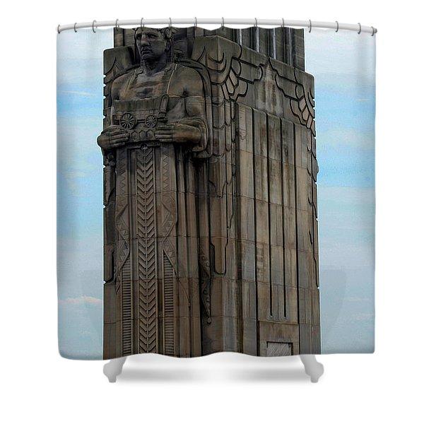 Hope Memorial Bridge Guardian Shower Curtain