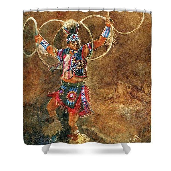 Hopi Hoop Dancer Shower Curtain