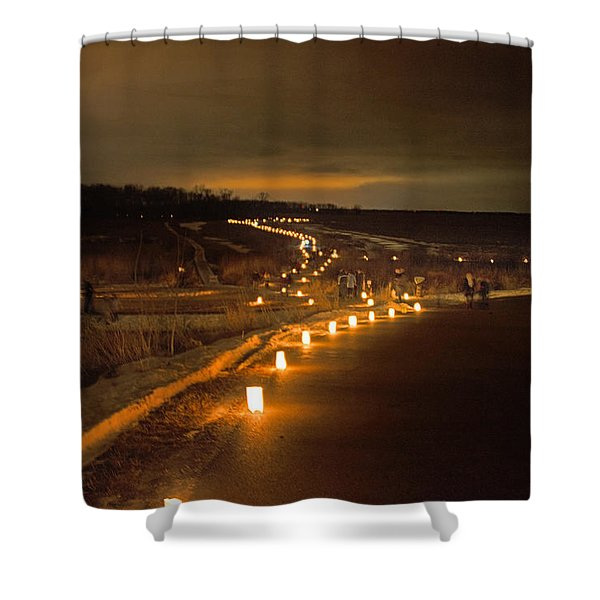 Horicon Marsh Candlelight Snow Shoe/hike Shower Curtain