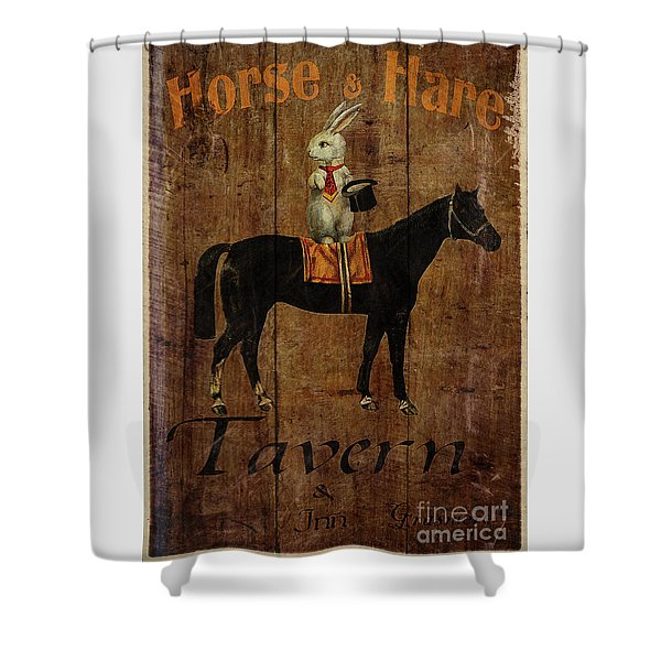 Horse And Hare Pub Shower Curtain