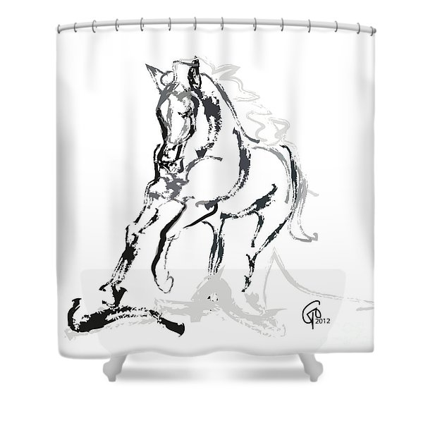 Horse- Andalusian Angel Shower Curtain