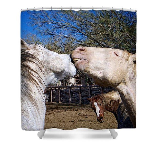 Horse Emotion Shower Curtain