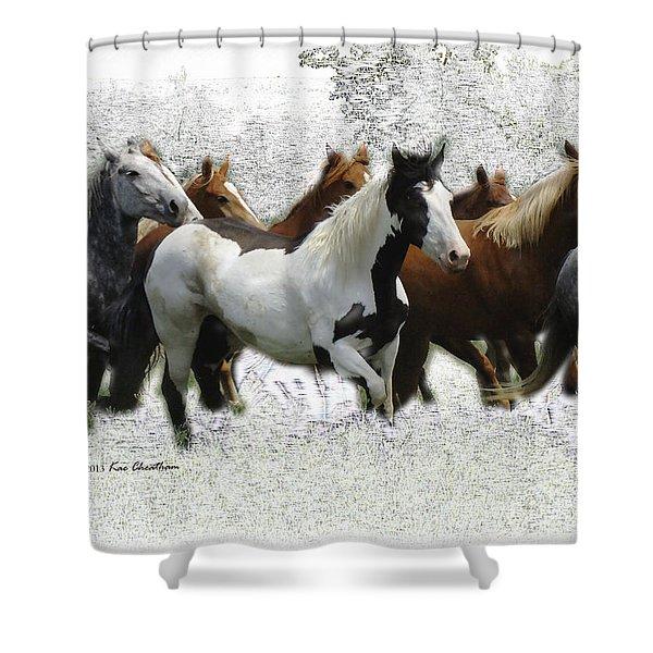 Horse Herd #3 Shower Curtain