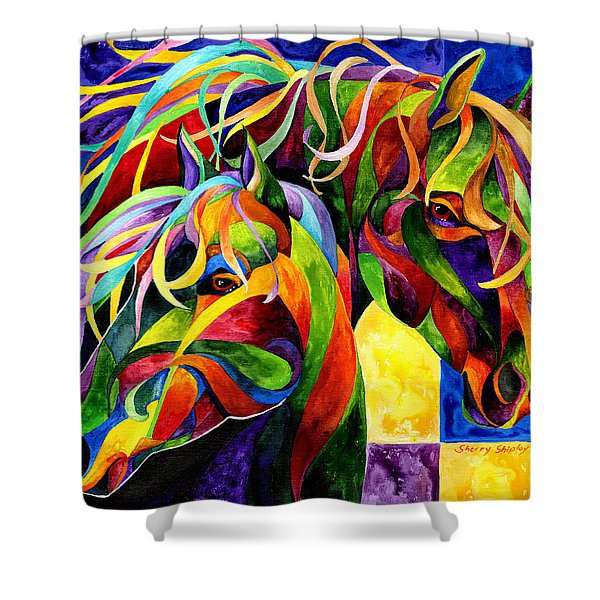 Horse Hues Shower Curtain