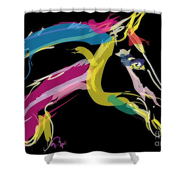 Horse- Lovely Colours Shower Curtain
