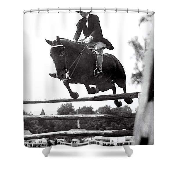 Horse Show Jump Shower Curtain