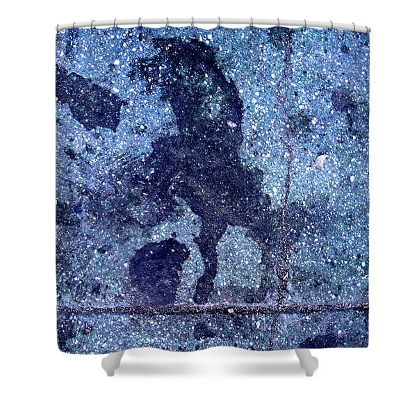 Horse Smashing Evil On Skid Row Shower Curtain