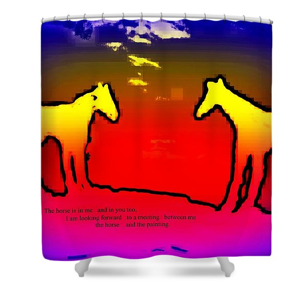 Feel The Horses Inside Of Us And The Space Outside  Shower Curtain