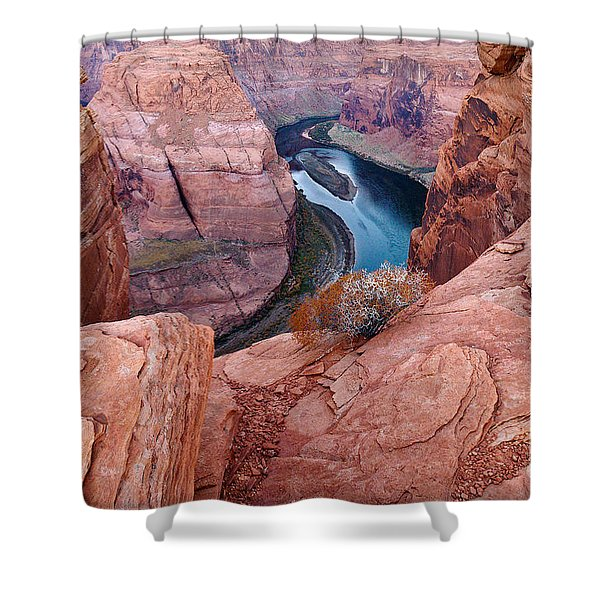 Shower Curtain featuring the photograph Horseshoe Bend At Dawn by Mae Wertz