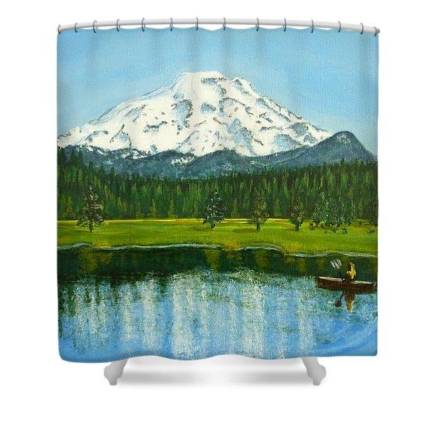 Hosmer Lake Shower Curtain