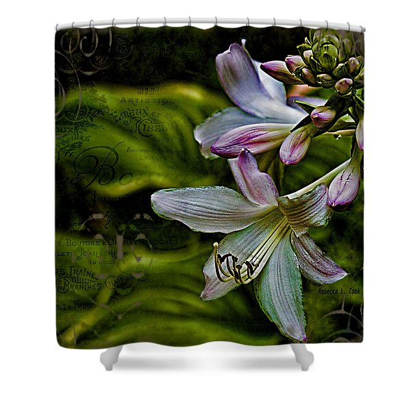 Hosta Lilies With Texture Shower Curtain