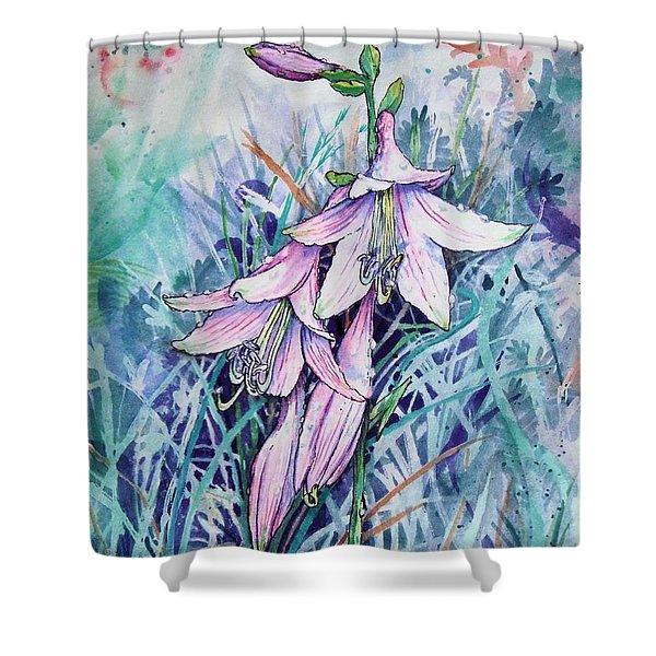Hosta's In Bloom Shower Curtain